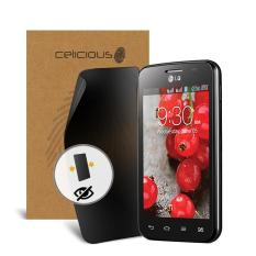 Celicious Privacy LG Optimus L4 II Dual E445 2-Way Visual Black Out Screen Protector