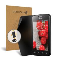 Celicious Privacy Plus LG Optimus L4 II Dual E445 4-Way Visual Black Out Screen Protector