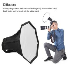 CHEER 30 Cm Universal Flash Light Softbox Octagon Diffuser untuk Kamera Speedlight-Intl