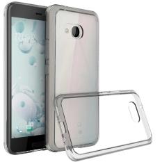 Clear Hybrid TPU Bumper Hard Back Phone Cover Case untuk HTC U11 HTC Ocean-Intl