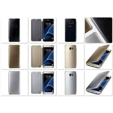 Clear View Cover Case Samsung Galaxy S7 Edge Original Flip Case - 9D3E3A e90c78c297e6