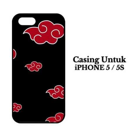 Cover IPHONE 5S awan merah akatsuki Casing Hardcase