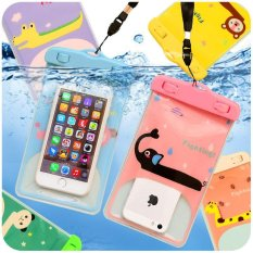 Kreatif Kartun Telepon Seluler Waterproof Bag Colorful Hewan PVC Sealed Waterproof Bag Kamera Waterproof Phone Cellphone Bag-Intl