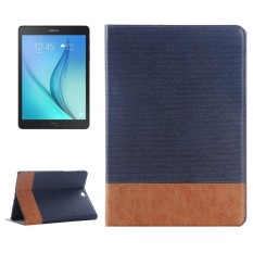 Cross Texture Leather Case with Holder and Card slots and Wallet for Samsung Galaxy Tab A 9.7 4G LTE / T555(Dark Blue)