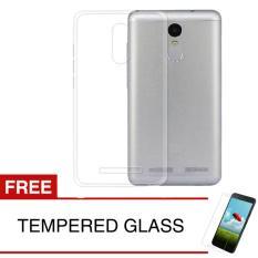 Crystal Case for Lenovo K6 Power - Clear Hardcase +  Gratis Tempered Glass