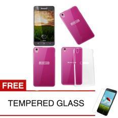 Crystal Case for Lenovo S850 - Clear Hardcase +  Gratis Tempered Glass