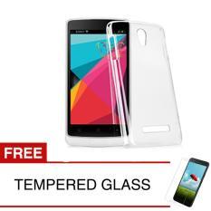 Crystal Case for OPPO Clover / R815T - Clear Hardcase +  Gratis Tempered Glass