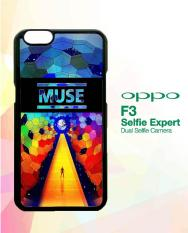 Custom Hardcase OPPO F3 muse logo rainbow A1244 Case Cover