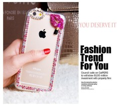 Cute Bling Kiss Bowknot Diamond Case ForHuawei Y540 - intl