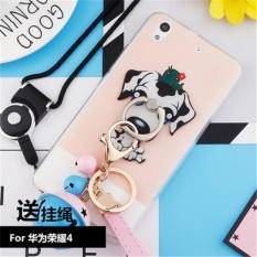 Lucu Kartun Stitch Case untuk Huawei Honor 4 Play C8817D G621-TL00 5.0 Inch dengan Stand Ring Holder Kembali Ponsel Cover + Strap Bell Aksesoris (Multicolor-3) -Intl