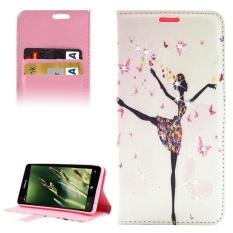 Dancing Girl Pola Berlian Bertatahkan Case Kulit Horisontal Flip dengan Pemegang dan Slot Kartu dan Dompet untuk Microsoft Lumia 850 -Intl
