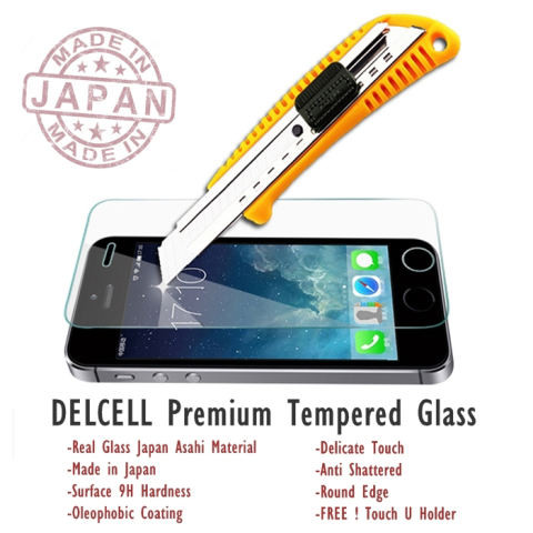 Delcell Tempered Glass Premium Made in Japan for iPhone 4