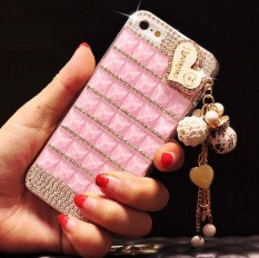 Diamond Case For Huawei P smart Lips Bling Crystal Rhinestone Cover coque fundas