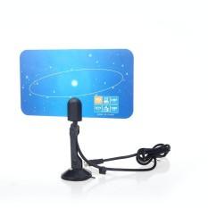 Digital Indoor TV Antenna HDTV DTV HD VHF UHF Flat Design High Gain US Plug - intl
