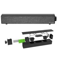 Docooler Bluetooth 4.0 Speaker Sound Bar Home Theater 20 W Outputfrom Dual 10 W Driver Deep Bass Aux-in Bermain Musik 4400 MAh Built-Inbattery Grey untuk TV PC Tablet Ponsel Pintar-Intl