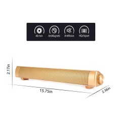 DSstyles Wireless Bluetooth Speaker,Home Theater Soundbar Built-in Dual Subwoofer TF Card/ 3.5mm Aux-in Supported for iPhone iPad Samsung Smartphone/ Tablet/ MP3 Player  Gold