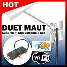 Duet Maut - Cyborg E288 Modem Wifi Wingle 4G Dan Antena Yagi Extreme 3 Eco Pigtail TS9