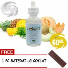 E-Liquid Naked USA Premium Rokok Elektrik Refill kemasan 1 botol x 60 ml - Rasa Frost Bite + FREE 1 PC Baterai LG Coklat