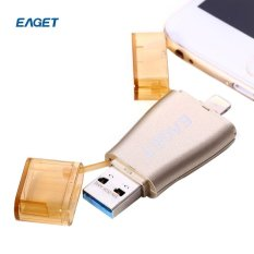 EAGET I50 64GB USB 3.0 OTG Flash Drive with Lightning Connector
