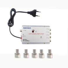 EELIC CSA-8840 PENGUAT SINYAL 40 dB CATV SIGNAL AMPLIFIER TV TELEVISI BROADBAND 1 INPUT + 4 OUTPUT BOOSTER INDOOR ANTENA 2 Watt