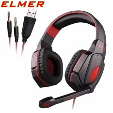 ELMER G4000 Pro Gaming Headset Stereo Sound Wired Over-The-Ear Headphones Noise Reduction With Microphone For Smartphone PC