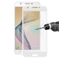 ENKAY Hat-Prince untuk Samsung Galaxy J7 Prime 0.2mm 9 H Kekerasan 3D Explosion-proof Full Screen Carbon Fiber Tepi Lunak Film Anti Gores (Putih) -Intl