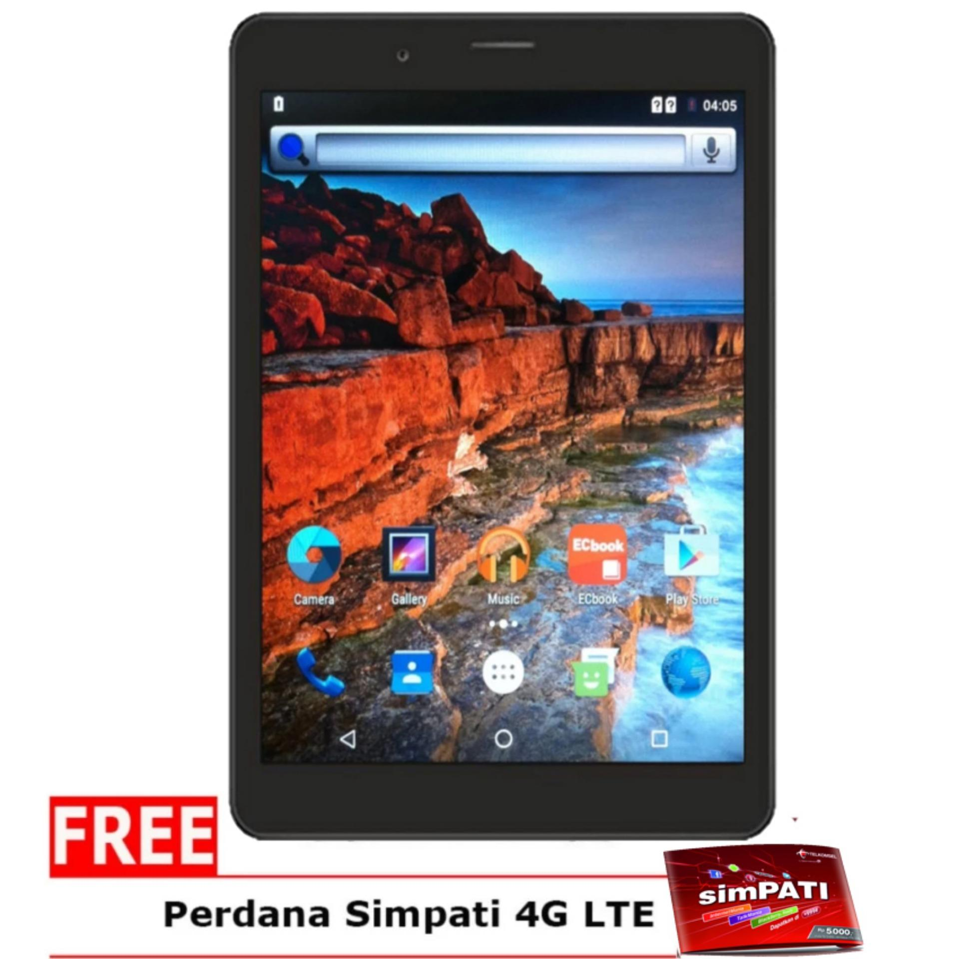 Evercoss AT8L Winner Tab V LITE 4GB Hitam Gratis Perdana Simpati
