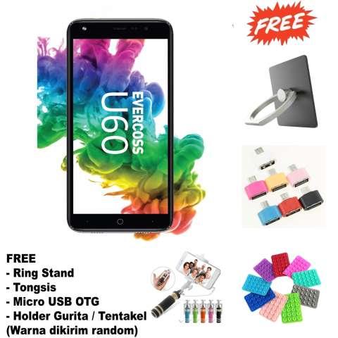 Evercoss U60 Smartphone -1/8GB - FullView Display - (Free 4 Item Accessories