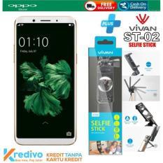 OPPO F5 Youth 3/32 GB Plus Selfie Stick Vivan ST02 Original Cash & Kredit Tanpa Kartu Kredit