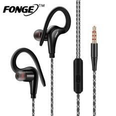 Fonge S760 Ear Hook Sport Headphone Bass Stereo Sport Earbud Earphone Jack Headset 3.5mm Dengan Mikrofon Untuk Telepon Dan Musik