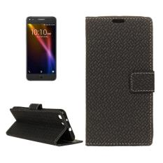 For Alcatel Onetouch X1 7053D Weaving Texture Horizontal Flip PU Leather Case with Magnetic Buckle & Holder & Card Slots & Wallet & Photo Frame(Black) - intl