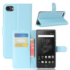 For BlackBerry Motion Litchi Texture Horizontal Flip Leather Case with Holder & Card Slots & Wallet(Blue) - intl