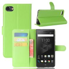 For BlackBerry Motion Litchi Texture Horizontal Flip Leather Case with Holder & Card Slots & Wallet(Green) - intl