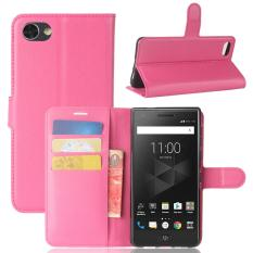 For BlackBerry Motion Litchi Texture Horizontal Flip Leather Case with Holder & Card Slots & Wallet(Magenta) - intl