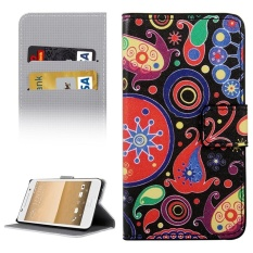For HTC One A9 Colorful And Abstract Patterns Horizontal Flip Leather Case With Holder and Card Slots and Wallet
