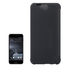 For HTC One A9 Mesh Horizontal Flip Silicon + PC Hard Case With Sleep / Wake-up Function(Grey)