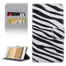 For HTC One A9 Zebra Patterns Horizontal Flip Leather Case With Holder and Card Slots and Wallet