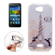 For Huawei Honor Bee Music Tower Pattern Transparent TPU Soft Protective Back Cover Case - intl