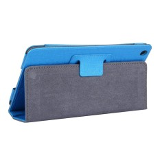 For Lenovo IdeaTab A8-50 / A5500 Steel Wire Texture Magnetic Horizontal Flip Leather Case With Holder(Blue)