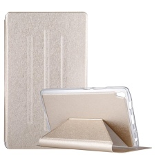 For Lenovo Tab3 8 Plus / TB-8703 Silk Texture Horizontal Flip Leather Case with Holder (Gold)