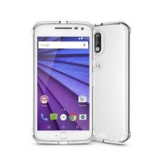 untuk Motorola Moto G (4th Jenderal) /G4 PLUS Transparan Shockproof TPU Pelindung Kembali Tudung Case (Transparan)-Intl