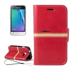 For Samsung Galaxy J1 Mini / J1 Nxt / J105 Crazy Horse Texture Horizontal Flip PU Leather Case With Holder and Card Slots and Wallet and Photo Frame and Lanyard (Red) - intl