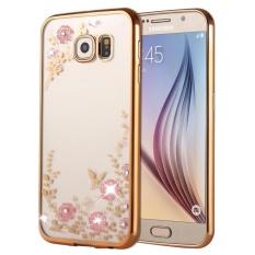 untuk Samsung Galaxy S6 Edge/G925 Bunga Pola Elektroplating Soft TPU Cover Cover Cover-Intl