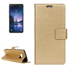 For Samsung Galaxy S8 Active Litchi Texture Horizontal Flip Leather Case with Holder and Card Slots and Wallet and Photo Frame (Gold) - intl