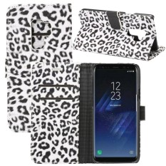 For Samsung Galaxy S9+ Leopard Pattern PU + PC Horizontal Flip Leather Case with Holder and Card Slots and Wallet, Small Quantity Recommended Before Samsung Galaxy S9+ Launching(White) - intl
