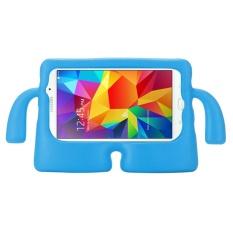 untuk Samsung Galaxy Tab 4 7.0/T230 dan Tab 3 Kids/Lite Universal Kecil Orang TV Model EVA Bumper Pelindung Case (Biru) -Intl