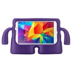 untuk Samsung Galaxy Tab 4 7.0/T230 dan Tab 3 Kids/Lite Universal Kecil Orang TV Model EVA Bumper Pelindung Case (Ungu) -Intl