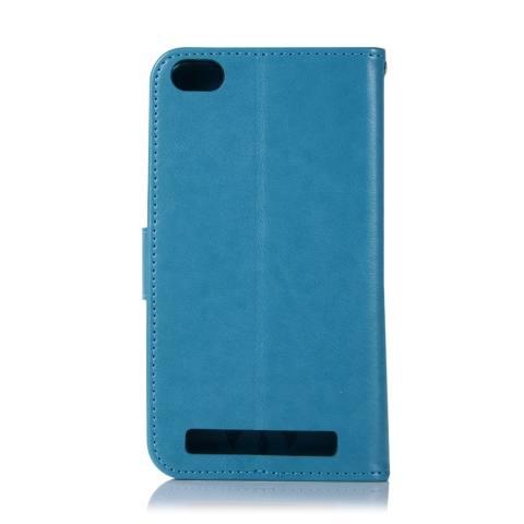 Untuk Xiaomi Redmi 5A Case, 3D Hiasan Timbul Modis Peraih Mimpi Burung Hantu PU Kulit Case, magnetik Lipat Stand Penyangga Sarung Pemegang Kartu & Tali Tangan-Internasional 2