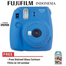 Fujifilm Instax Camera Mini Kamera 9 Paket Standard - Cobalt Blue
