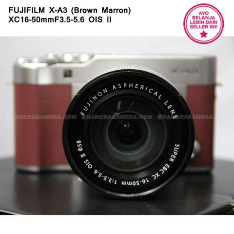 FUJIFILM X-A3 BROWN MARRON + XC16-50mm F3.5-5.6 OIS II + SanDisk 16GB + Screen Guard + Filter 58mm + Camera Bag + Takara ECO193A 6